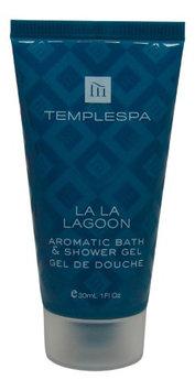 Temple Spa La La Lagoon Aromatic Bath & Shower Gel 1oz tubes. Total 4oz (Pack of 4)