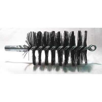 TOUGH GUY 3EDF7 Flue Brush, Dia 2 3/4,1/4 MNPT, Length 8