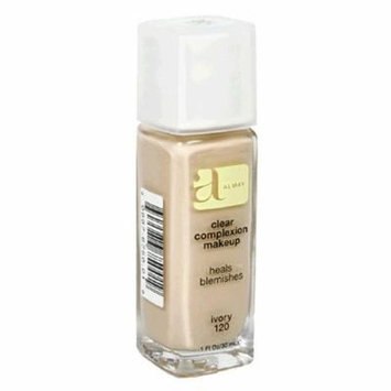 Almay Clear Complexion Makeup, Ivory 120, 1-Ounce Bottles (Pack of 2)