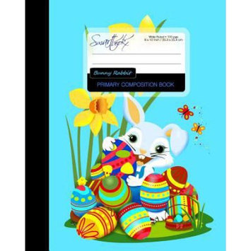 Createspace Publishing Primary Composition Book - Bunny Rabbit: Kids School Exercise Book with Butterflies, Chicks & Ladybug [ Times Tables * Wide Ruled * Large Notebook * Color * Perfect Bound ]