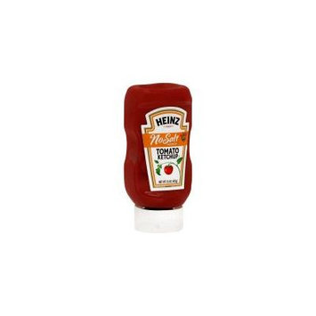 Heinz No Salt Added Tomato Ketchup, 15 Oz. (Pack of 6)