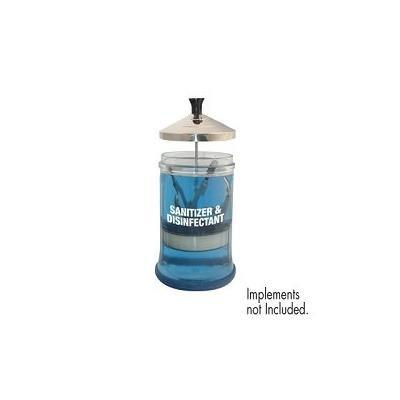 DL PRO Barber Salon Manicurist Tool Sanitizing Disinfecting Glass Jar SJ-DLC552