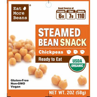 Steamed Bean Snack- Chickpeas! A Delicious, Healthy and Quick Snack. Ready to eat!