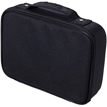 ZUCA Travel Organizer Bag with Customizable Padded Compartments - Organize All Your Accessories (Black)