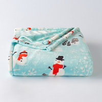 The Big One® Supersoft Plush Throw, Light Blue