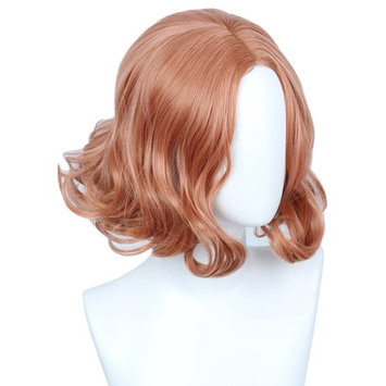 Linfairy Short Pink Curly Wig for Women Halloween Costume Wig p5