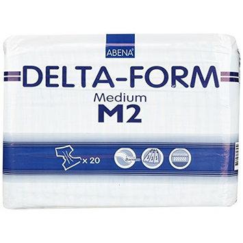 Abena Delta Form Brief, Medium, M2, 20 Count [M2, 20 Count]