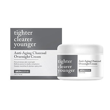 Skin Solve Anti-Aging Charcoal Overnight Cream 2oz / 60ml