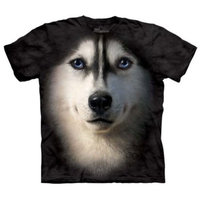 Siberian Husky Face Adult T-Shirt by The Mountain - 10-3337