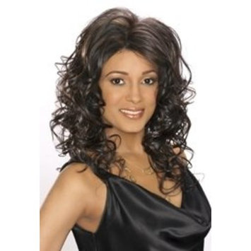 Care Free Hand-Stitch Lace Wig - Lola (Final Sale) (F4/27 - Med Dark Brown frosted w/Light Auburn)