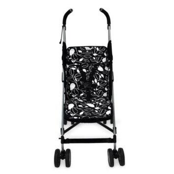 Balboa Baby Stroller Liner In Black White Leaf
