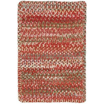 Capel Rugs Ocracoke Cross Sewn Rectangle Braided Area Rug, 4' x 6', Amber