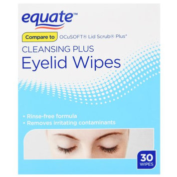 Wal-mart Stores, Inc. Equate Cleansing Eyelid Wipes 30 Ct