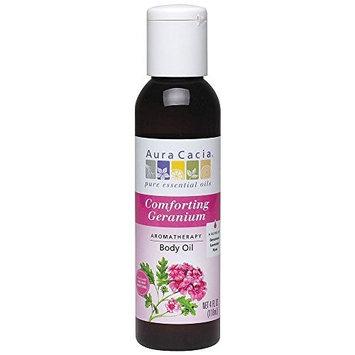 Aura Cacia, Aromatherapy Body Oil, Comforting Geranium, 4 fl oz (118 ml) by Aura Cacia