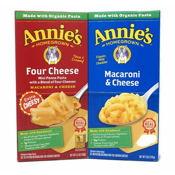 General Variety Pack - Annies Homegrown Organic Macaroni & Cheese (5.5oz) - Four Cheese, Classic Mild Cheddar