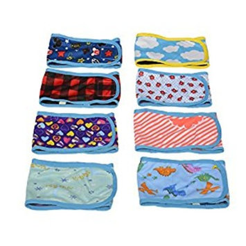 HTKJ Washable Male Dog Belly Band (Pack of 4) with Velcro Reusable Durable Dog Diapers Wrap for Small Medium Pet Dog