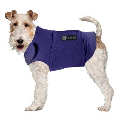 AKC Calming Coat Anti-Anxiety Stress Relief Coat For Your Dog Blue Med 20-50lbs.