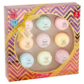 Body & Earth Bath Bomb Gift Set, 4 oz, 9 count