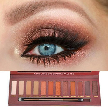 Hatop 12 Colors Shimmer Matte Eyeshadow Eye Shadow Palette Cosmetic Brush Set