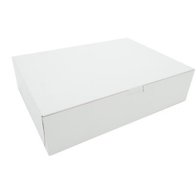 Southern Champion Tray 0983 Premium Clay Coated Kraft Paperboard White Non-Window Lock Corner Bakery Box, 12