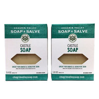 Chagrin Valley Soap & Salve - Organic Natural Soap Bar - Castile 2X Pack