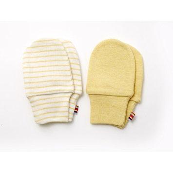 Agabang giggle Organic Cotton Baby Mitts - Heathered Yellow 2-Pack