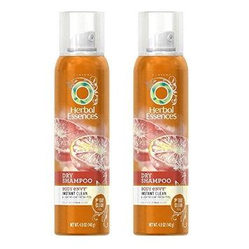 Herbal Essences Dry Shampoo, Body Envy, Instant Clean & Lightweight Fresh Feel, Citrus Scent, 140g (4.9 oz) (Pack of 2) + FREE Makeup Blender Sponge