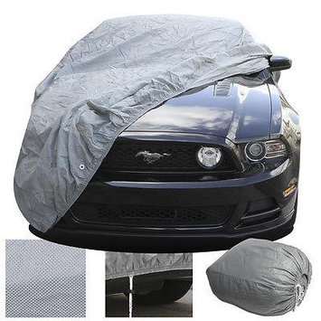 Istiloshoppe Car Accessories FULL Car Auto Cover 2 Layer Indoor Outdoor Dust Scratch Protector Breathable Fit