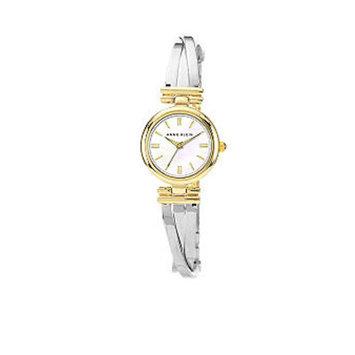 Anne Klein Two-Tone X Shape Bangle Watch