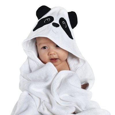 Bambooku Baby Hooded Towel | Temperature Regulating | Hypoallergenic | Extreme Softness | For Infants and Toddlers, for Boys and Girls | Made from 100% Organic Bamboo fiber with animal ears | White