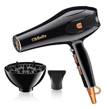 Hair Dryer Professional Ionic Hair Blow Dryer with Concentrator Diffuser 1875w Blow Dryers for Curly and Straight Hair