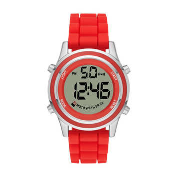 Ladies Analog Digital Red Silicon Strap Watch