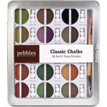 Alvin PEB742003 30 Color Chalk Set Earth Tones