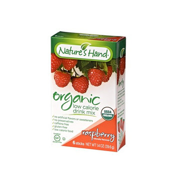 Nature's Hand Singles To Go Powder Packets - Low Calorie Raspberry Drink Mix (12 Boxes with 6 Packets Each - 72 Total Servings)