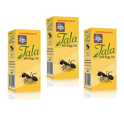3Bottle-Tala ANT EGG OIL Hair Removal Genuine Organic Permanent Reducing Solution 20ml/0.7oz