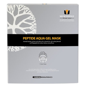 MTS Peptide Aqua Gel Mask 5 Pcs / Box, Hydrating, Soothing, Cooling, Healing, Post-treatment, Post-rolling, Reduce Redness and Stinging Feeling