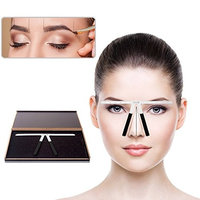 Vjoy Tattoo Eyebrow Ruler Makeup Stencil Ruler Balance Symmetrical Tool - Three-point Positioning Reusable Eye Brow Hair Measuring Measurement Grooming Tool