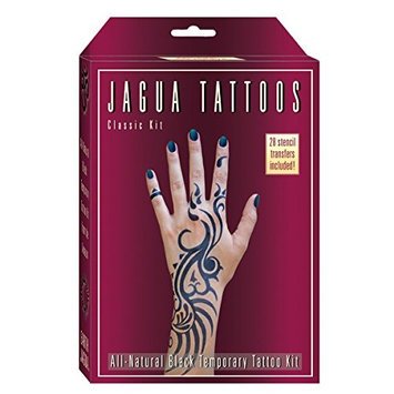 Organic Jagua Plum Temporary Tattoo and Body Painting Kit. Safe for Children and Made in the USA. Enough Jagua Gel for 12-15 Designs and Applications Last.