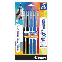 Pilot(R) FriXion Ball Erasable Gel Color Stix Pens, Fine Point, 0.7mm, Assorted Barrel Colors, Assorted Ink Colors, Pack Of 5