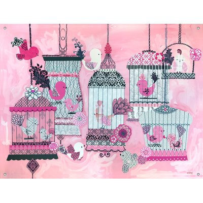 Oopsy Daisy French Birdies by Winborg Sisters Canvas Wall Mural