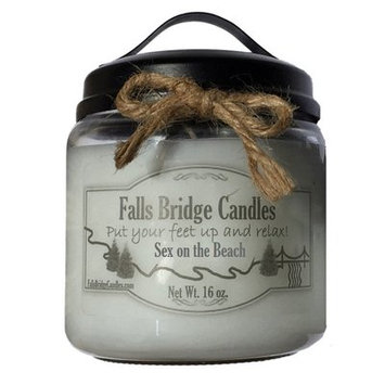Fallsbridgecandles Sex on the Beach Scented Jar Candle Size: 5.25