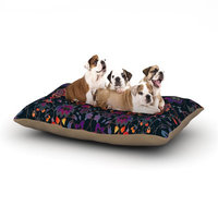 East Urban Home Nikki Strange 'Bali Tapestry' Dark Dog Pillow with Fleece Cozy Top Size: Large (50