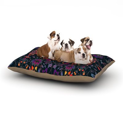 East Urban Home Nikki Strange 'Bali Tapestry' Dark Dog Pillow with Fleece Cozy Top Size: Large (50