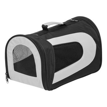 Iris Small Soft Pet Carrier Color: Black, Size: 10.63