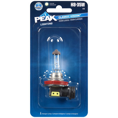 PEAK® Lighting Classic Vision™ Clear Halogen Lamp H8-35W Carded Pack