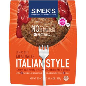 Simek's® Italian Style Jumbo Beef Meatballs 20 oz. Bag