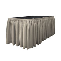 La Linen Table Skirt Color: Light Gray