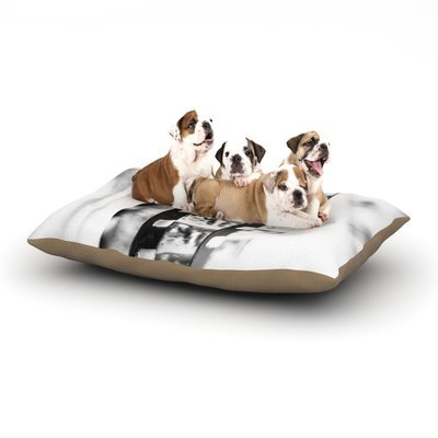 East Urban Home Ingrid Beddoes 'Memories' Filmstrip Dog Pillow with Fleece Cozy Top Size: Large (50