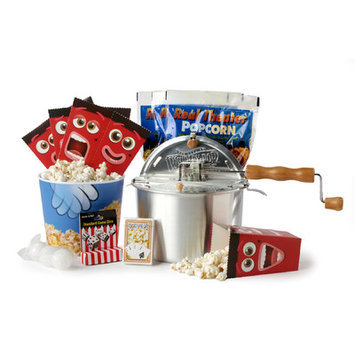 Wabash Valley Farms 9 Piece Popcorn Game Night Set Featuring the Original Whirley-Pop