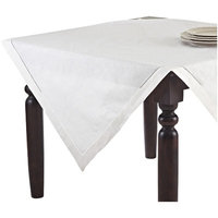 Saro Hemstitched Linen Blend Tablecloth